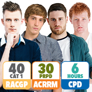 RACGP 40 Category 1 QI&CPD points; ACRRM 30 PRPD points; 6 hours