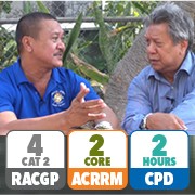 RACGP 4 Category 2 QI&CPD points; ACRRM 2 core PDP points; 2 hours